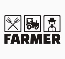 Farmer pitchfork tractor Kids Clothes