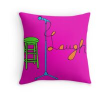 Stand Up Comedy Drawing. (With Color) Throw Pillow