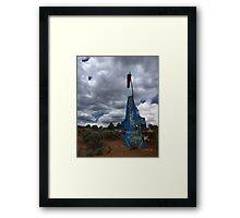 Airport and UFO Landing Site, Boulder, Utah Framed Print