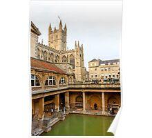 The Roman Baths, Bath Poster
