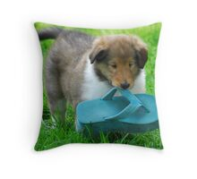 A girl loves her shoes! Throw Pillow