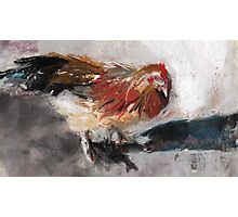 Audrey ( Chicken ) - From original pastel by Madeleine Kelly Photographic Print