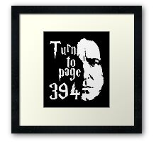 Turn to page 394 Framed Print