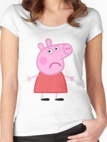 Sad Peppa Women's Fitted Scoop T-Shirt