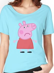 Sad Peppa Women's Relaxed Fit T-Shirt