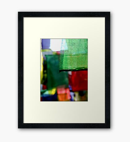 Abstract Prayer Flags 1  (Limited Edition Print of 50) Framed Print