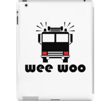 Firetruck Wee Woo iPad Case/Skin