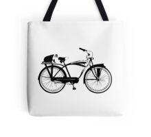 Badger On A Bicycle Tote Bag