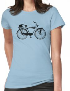 Badger On A Bicycle Womens Fitted T-Shirt