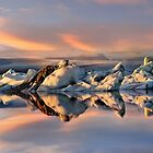 Sunset at Jokulsarlon by Peter Hammer