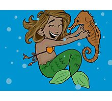 Cute Little Mermaid  Photographic Print