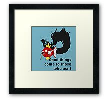 Magikarp- Good Things Come to those Who Wait Framed Print