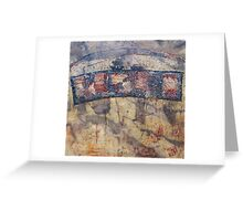 Gondwana encaustic stitched Greeting Card