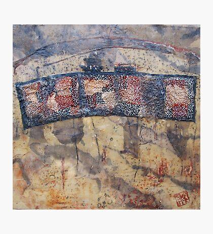 Gondwana encaustic stitched Photographic Print