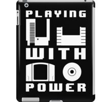 Playing With Power White iPad Case/Skin