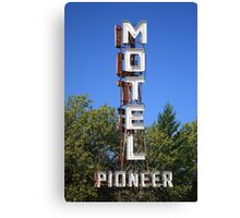 Route 66 - Pioneer Motel Canvas Print
