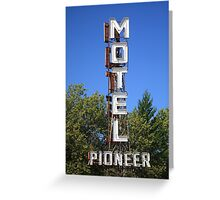 Route 66 - Pioneer Motel Greeting Card