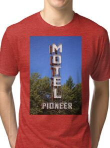 Route 66 - Pioneer Motel Tri-blend T-Shirt