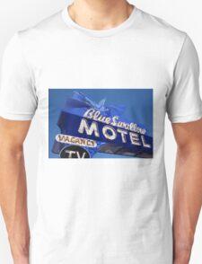 Route 66 - Blue Swallow Motel Neon T-Shirt