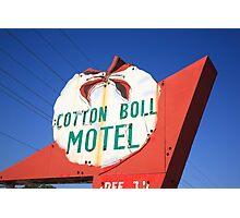 Route 66 - Cotton Boll Motel Photographic Print