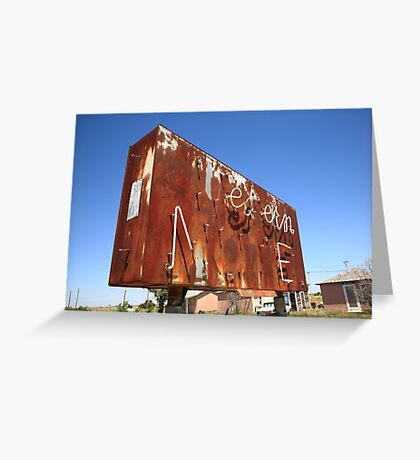Route 66 - Western Motel Neon Greeting Card