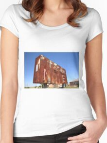 Route 66 - Western Motel Neon Women's Fitted Scoop T-Shirt