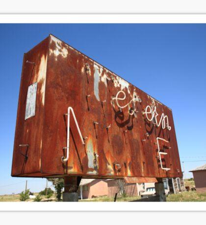 Route 66 - Western Motel Neon Sticker