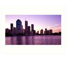 Brisbane at Sunset Art Print