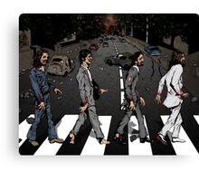 Zombie Abbey Road Canvas Print