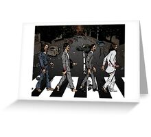 Zombie Abbey Road Greeting Card