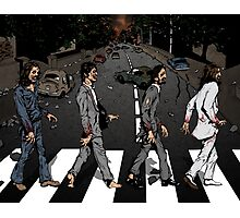 Zombie Abbey Road Photographic Print
