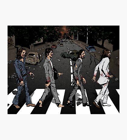 Zombie Abbey Road Photographic Print