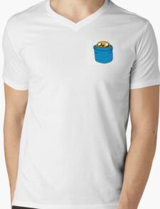 Jake in Finn's Pocket Mens V-Neck T-Shirt