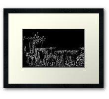 bar, ten thirty-nine pm (abstract), LLD4 Framed Print