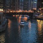 CHICAGO RIVER AT NIGHT by DRON