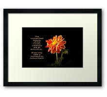 The Lord's Creation Framed Print