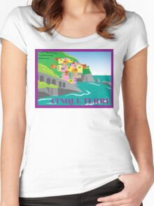 Cinque Terre Women's Fitted Scoop T-Shirt