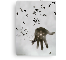 Outerspace Hand is Touching Down In Islamabad Canvas Print
