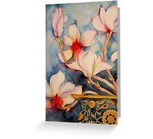 Magnolias in Vintage Vase 'Still Life' © Patricia Vannucci 2008 Greeting Card