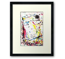 They enjoy the color attack! Framed Print