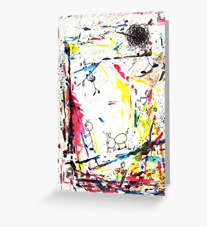 They enjoy the color attack! Greeting Card