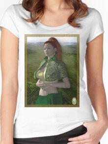 Dymphna-Celtic Princess Women's Fitted Scoop T-Shirt