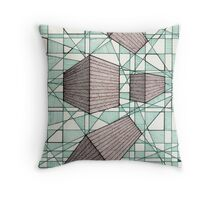 079 - PERSPECTIVE DESIGN - DAVE EDWARDS - INK - 1998 Throw Pillow