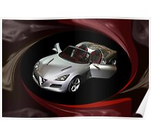¸.•*´♥`*•. PROTO TYPE CAR ALFA ROMEO CAR @ DETROIT CAR SHOW PILLOW,TOTE BAG,PICTURE ECT ¸.•*´♥`*•. Poster