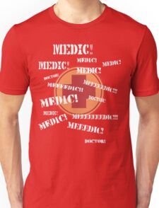 Press 'E' For Medic- RED Unisex T-Shirt