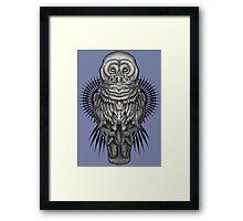 Geo Owl Framed Print