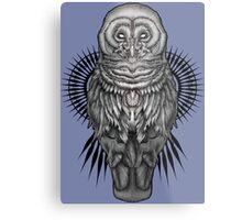 Geo Owl Metal Print