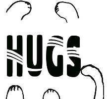 Whimsical Cat Paw Hugs Photographic Print