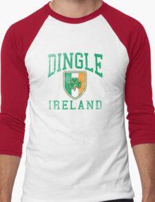 Dingle, Ireland with Shamrock Men's Baseball ¾ T-Shirt
