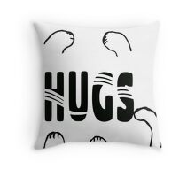 Whimsical Cat Paw Hugs Throw Pillow